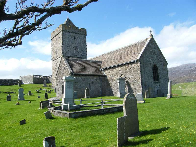 Historical Attractions on Harris, St Clements church Rodel