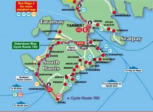 Hebridean Way Cycle Route 780 map
