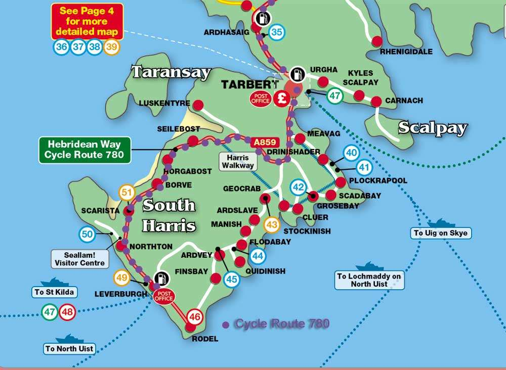 Isle Of Harris Map The Hebridean Way Cycle Route | Isle of Harris Isle Of Harris Map