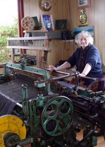 Traditional loom weaving